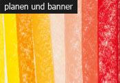 planen und banner